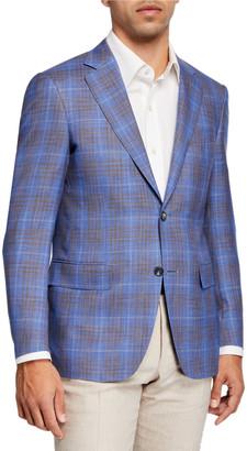 Canali Men's Plaid Two-Button Jacket