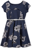 Bonnie Jean Metallic-Floral A-Line Dress, Big Girls (7-16)