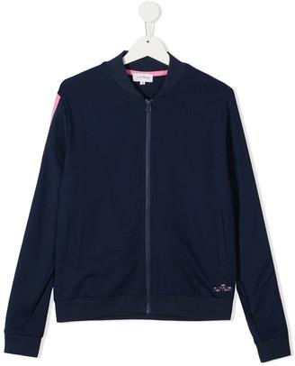 The Marc Jacobs Kids TEEN side stripe bomber jacket
