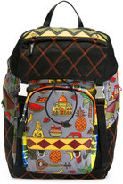 Prada graphic print quilted backpack