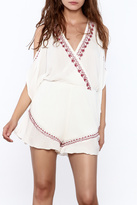 Band of Gypsies Bohemian Cold Shoulder Romper