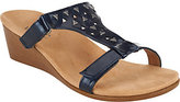 Vionic Orthotic Adj. T-Strap Wedge Sandals - Maggie