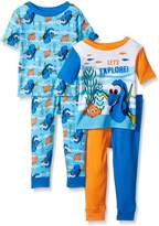 Disney Boys' Finding 4-Piece Cotton Pajama Set