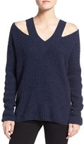Rebecca Minkoff Women's 'Draco' Waffle Knit Shoulder Cutout Sweater