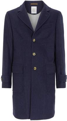 Eleventy Cashmere Single-Breasted Coat