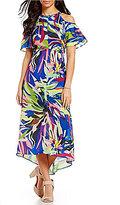 Gibson & Latimer Cold-Shoulder Tropical Floral Dress