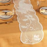 Bed Bath & Beyond Cornucopia and Leaves 72-Inch Table Runner in Ivory