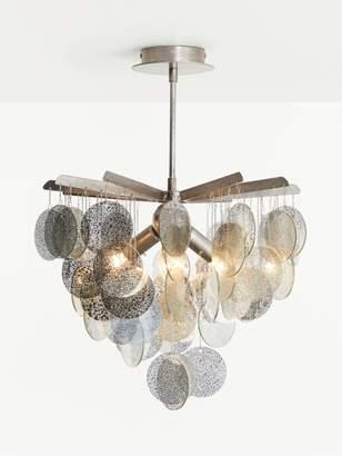 John Lewis & Partners Cluster Disc Semi Flush Ceiling Light, Silver