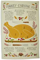 Sur La Table Turkey Carving Kitchen Towel