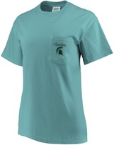 Unbranded Women's Green Michigan State Spartans Comfort Colors Football Saturdays Oversized Pocket T-Shirt