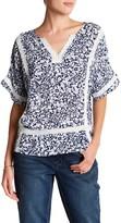 Seven7 Crochet Trim Kimono Sleeve Blouse