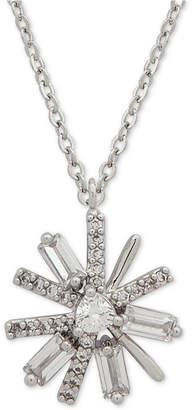 "Jenny Packham Crystal & Stone Daisy Pendant Necklace, 16"" + 2"" extender"