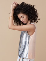 Diane von Furstenberg Sleeveless Sequin Shell