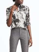 Banana Republic Easy Care Dillon-Fit Floral Utility Shirt