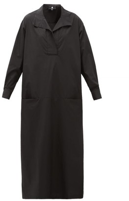SU PARIS Luka Cotton-poplin Maxi Dress - Black