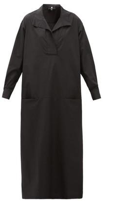 Su Paris - Luka Cotton-poplin Maxi Dress - Womens - Black