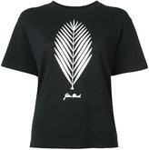 Julien David leaf print T-shirt