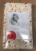Martha Stewart Flannel Winfield Floral Beige Ivory-red 2 Standard Pillowcases.