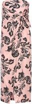 Cédric Charlier Printed washed-silk midi dress