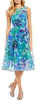Adrianna Papell Dahlia Bloom Fit & Flare Dress
