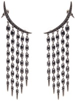 Oscar de la Renta Tendril crystal-embellished earrings