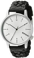 Komono Unisex KOM-W2032 Winston Woven Series Analog Display Japanese Quartz Watch