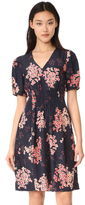 Rebecca Taylor Short Sleeve Phlox V Neck Dress