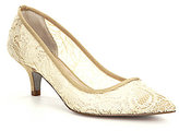 Adrianna Papell Lois Pointed-Toe Lace Slip-On Pumps