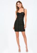 Bebe Lace Up Bustier Dress