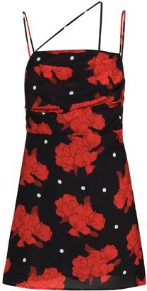 De La Vali Frisco rose-print mini dress
