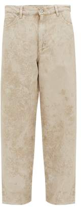 Our Legacy Vast Cut Wax-coated Straight-leg Jeans - Mens - White