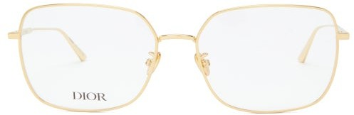 Christian Dior Gemdioro Oversized Metal Glasses - Gold