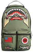 Sprayground Boys' Green Army Shark Patch Backpack