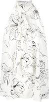 Diane von Furstenberg floral print halterneck blouse - women - Silk - M