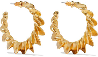 Ben-Amun 24-karat Gold-plated Hoop Earrings