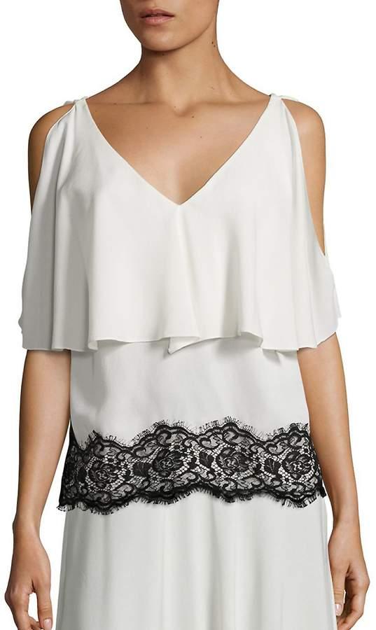 Derek Lam Women's Silk Lace Top