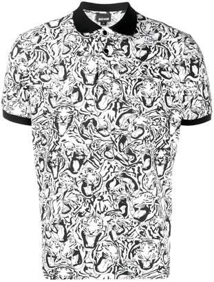 Just Cavalli Tiger print polo shirt