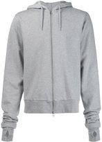 Hood by Air embroidered hood zipped hoodie