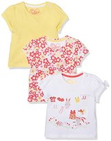 Mothercare Girl's Floral - 3 Pack T - Shirt
