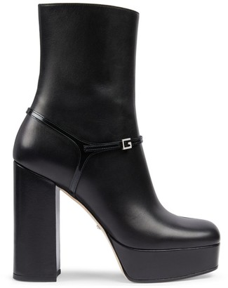 Gucci Leather Platform Boots