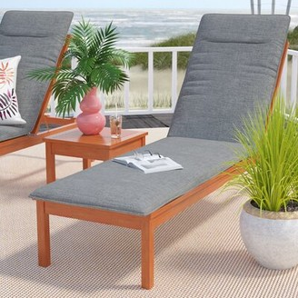 Sol 72 Outdoor Brighton Indoor/Outdoor Chaise Lounge Cushion Fabric: Light Gray
