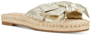 Nine West Blanche Knotted Slide Sandals Women's Shoes