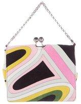 Emilio Pucci Printed Velvet Shoulder Bag.