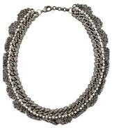 Venessa Arizaga Crystal & Curb Chain Woven Collar Necklace