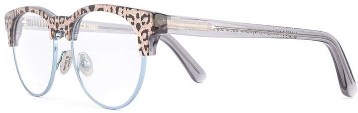 Cutler & Gross leopard print glasses