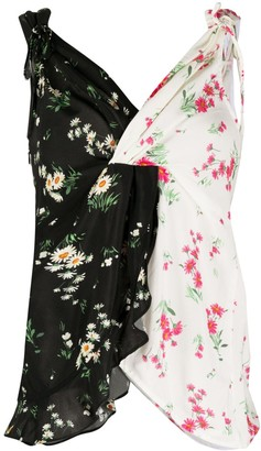 VIVETTA Two-Tone Floral Print Cami Top