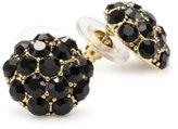 Yochi Black Stone Burst Stud Earrings