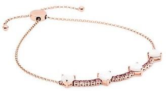 My Story The Pixie Heart 14K Rose Gold, Opal & Pink Tourmaline Slider Bracelet