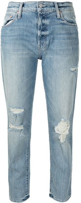 Mother Distressed High-Rise Jeans