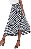 J.Crew J. CREW Gingham Ruffle Wrap Skirt
